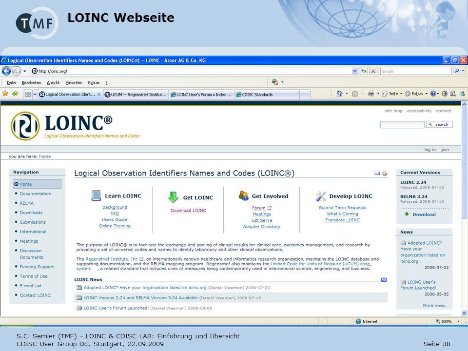 LOINC Webseite