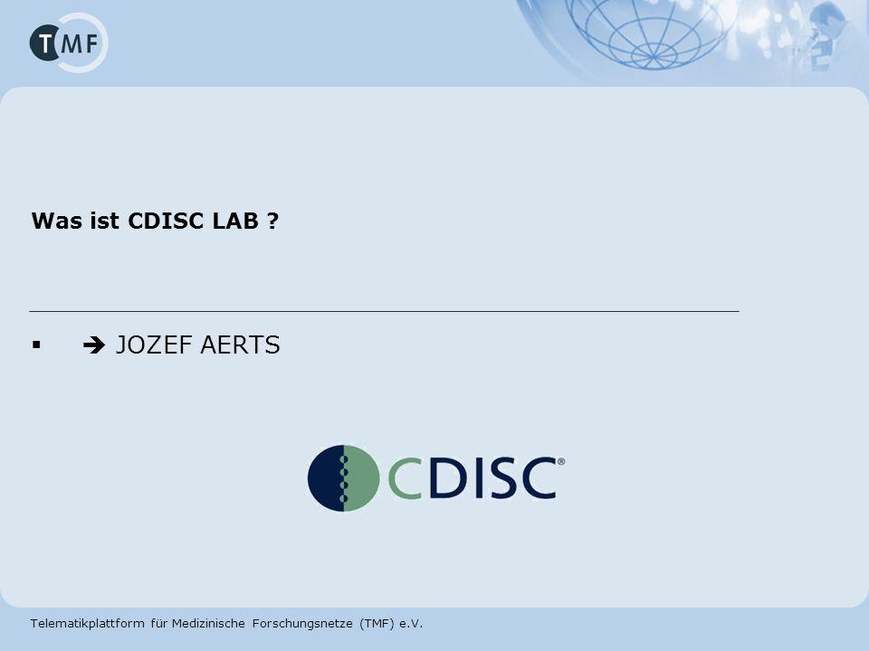 Was ist CDISC LAB  JOZEF AERTS