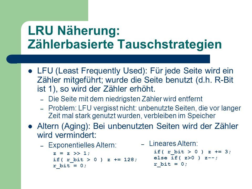 LRU Näherung: Zählerbasierte Tauschstrategien
