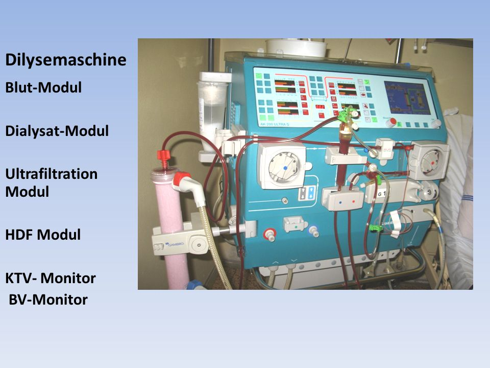 Dilysemaschine Blut-Modul Dialysat-Modul Ultrafiltration Modul