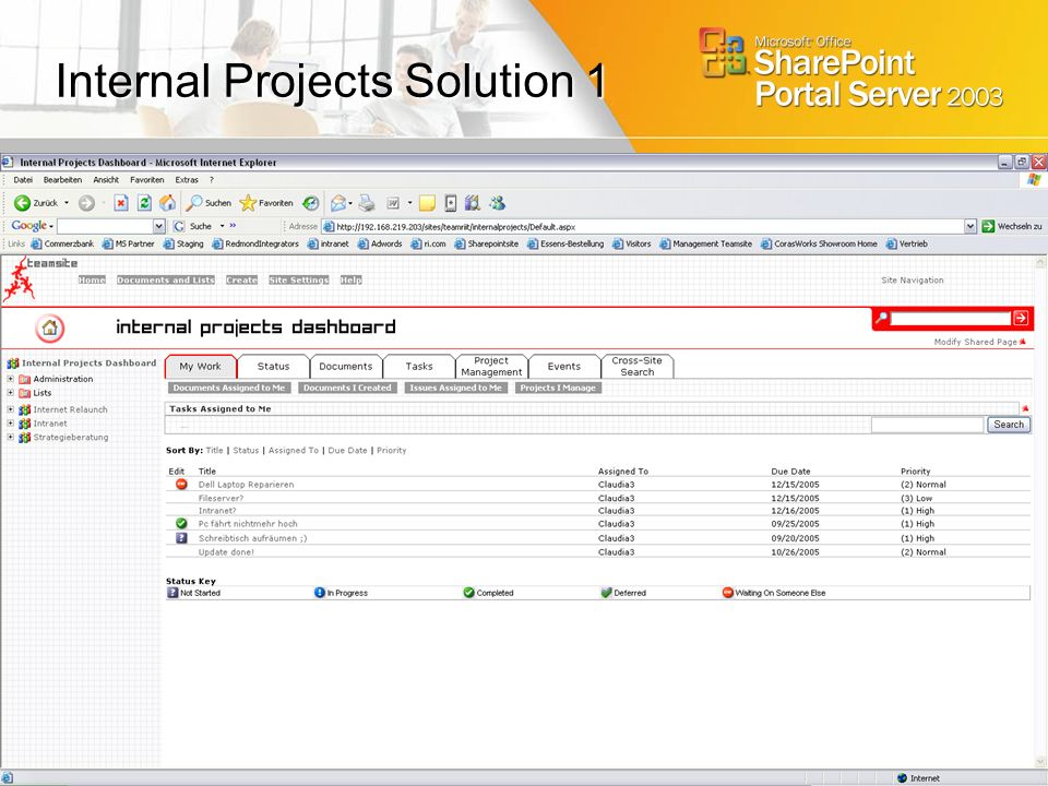 Internal Projects Solution 1