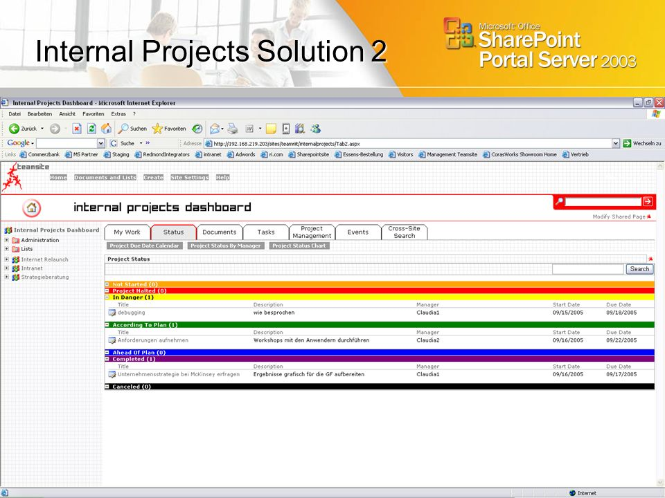 Internal Projects Solution 2