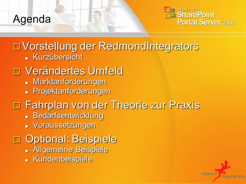 Vorstellung der RedmondIntegrators Verändertes Umfeld
