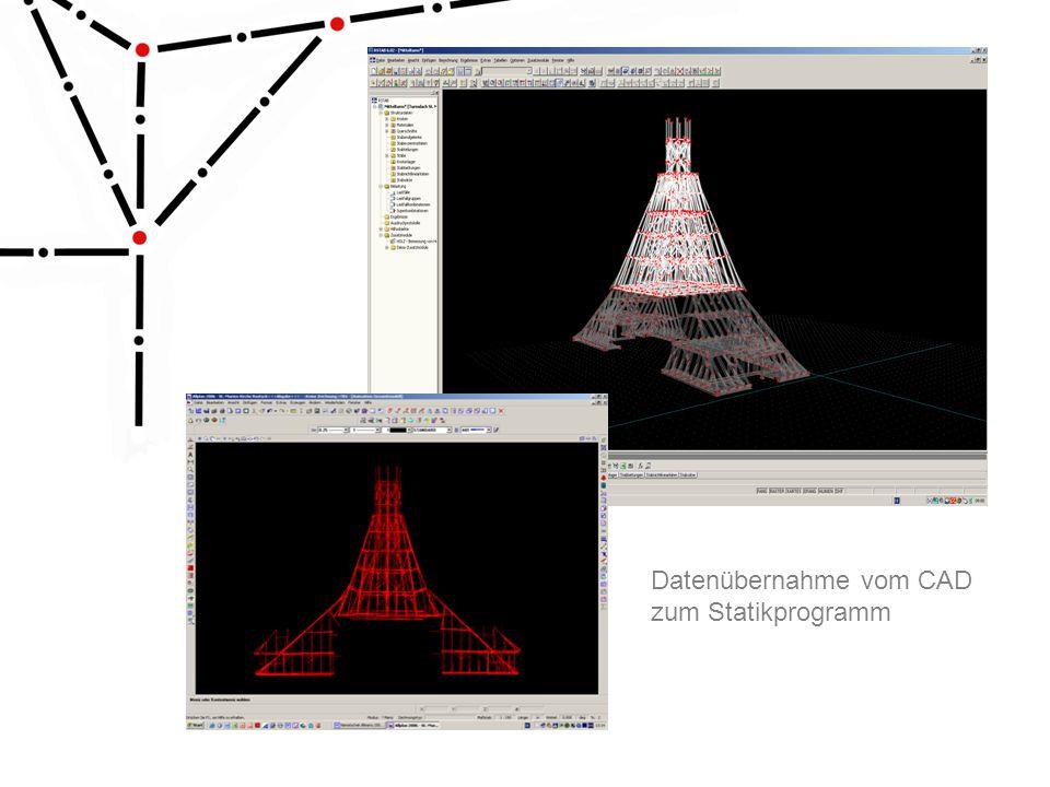 Datenübernahme vom CAD zum Statikprogramm