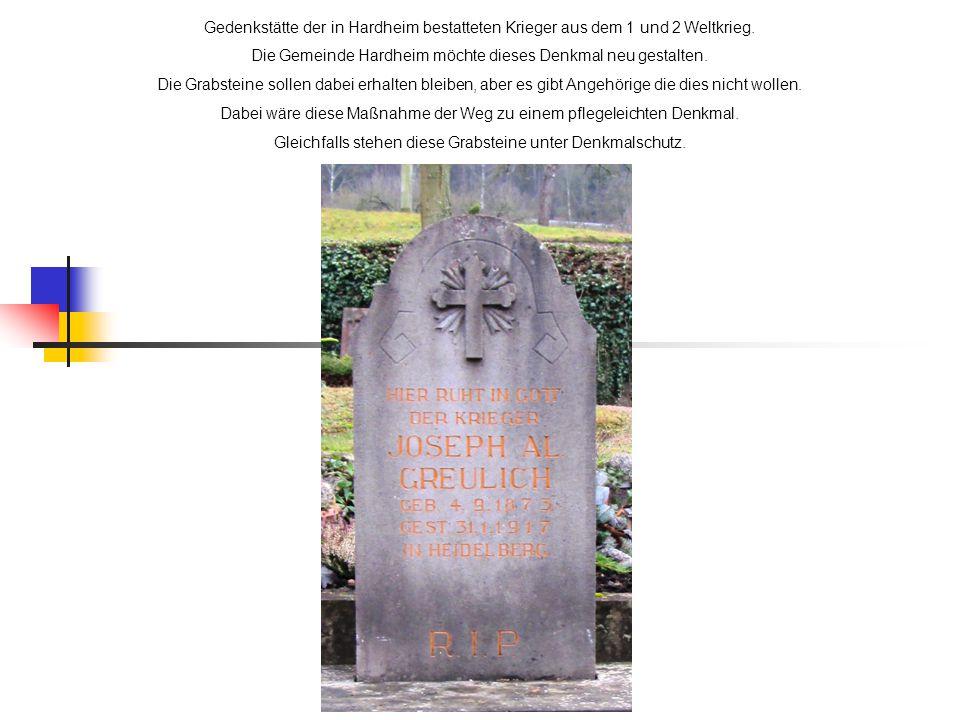 Die Gemeinde Hardheim möchte dieses Denkmal neu gestalten.