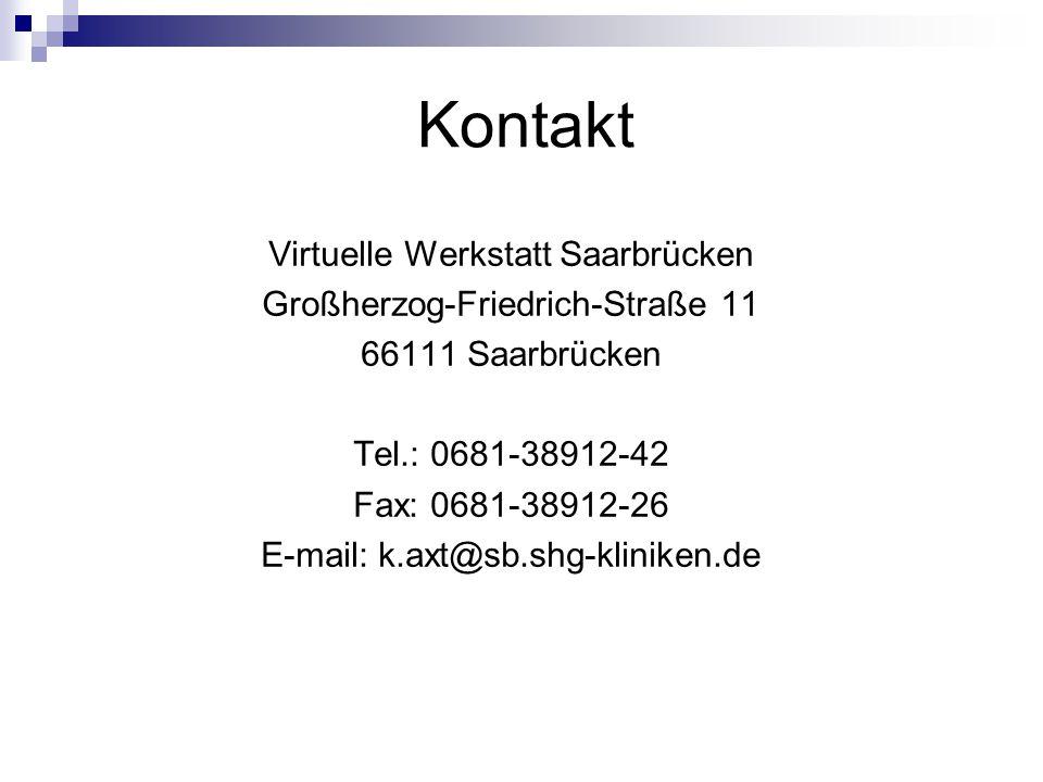 Kontakt Virtuelle Werkstatt Saarbrücken Großherzog-Friedrich-Straße 11