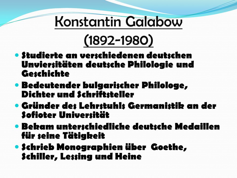 Konstantin Galabow (1892-1980)