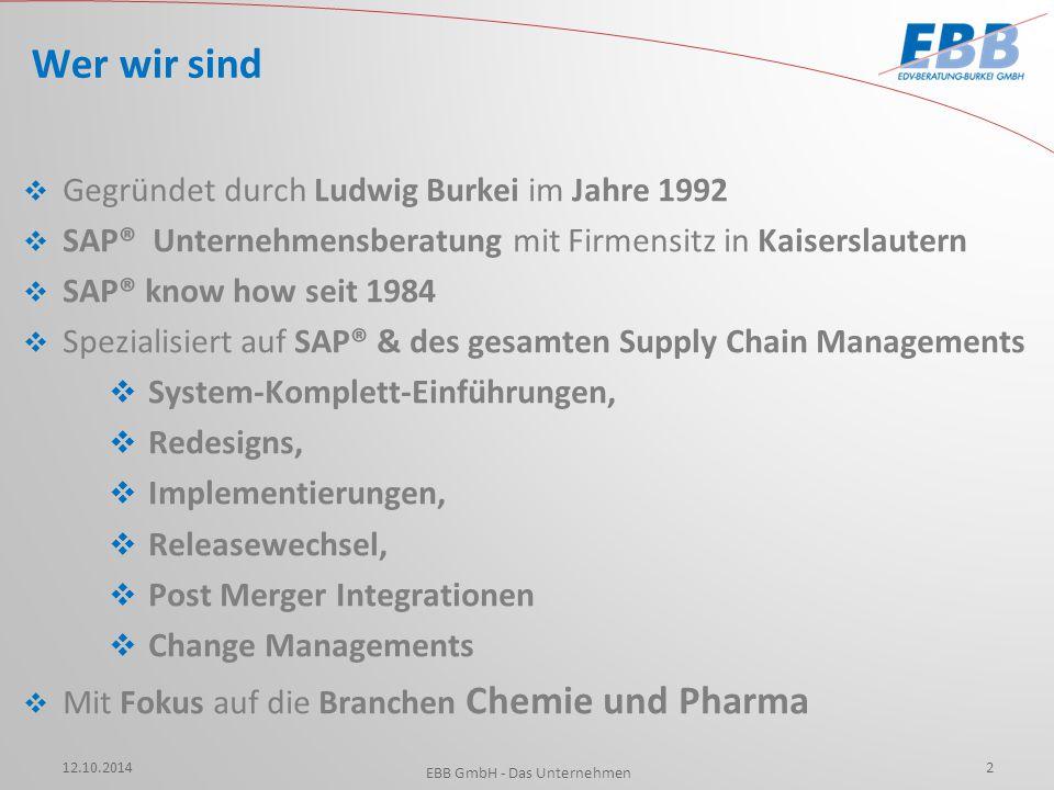 EBB GmbH - Das Unternehmen
