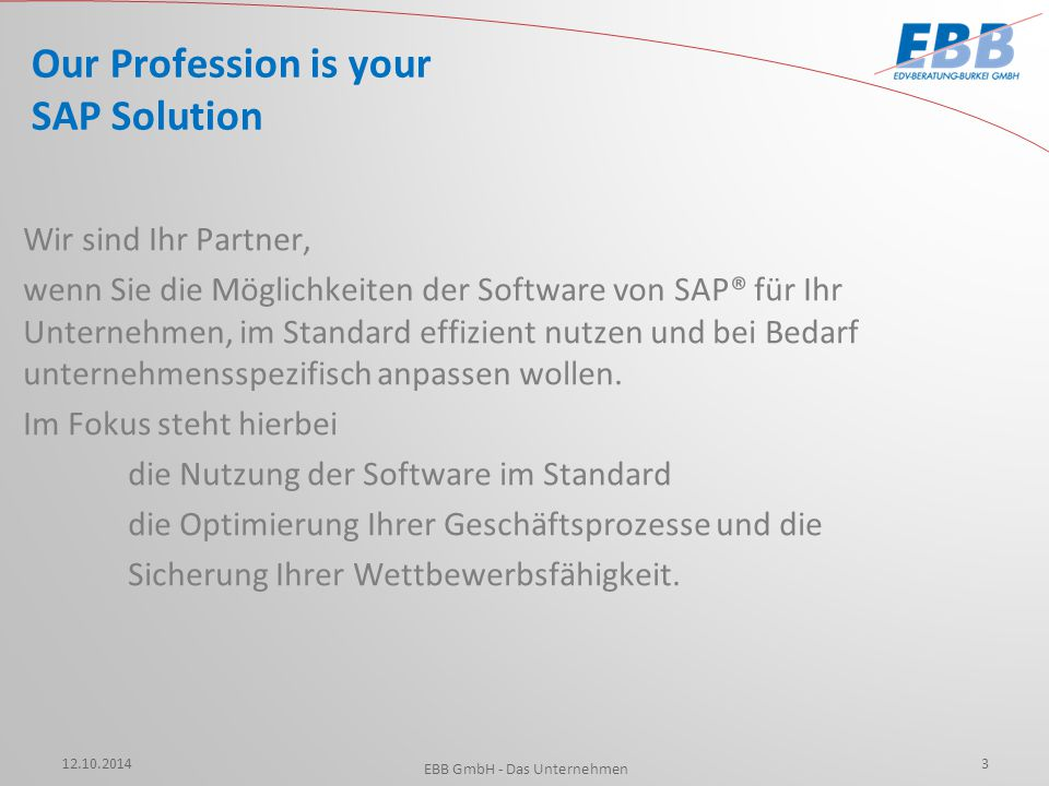 Our Profession is your SAP Solution