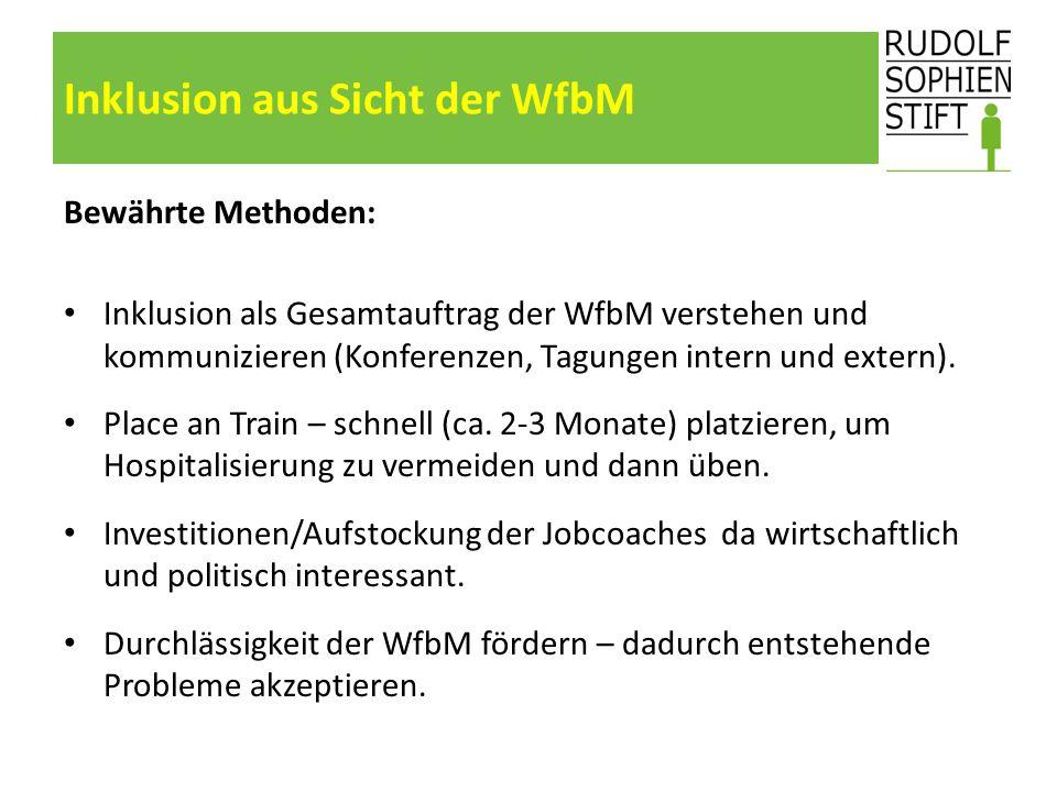 Inklusion aus Sicht der WfbM