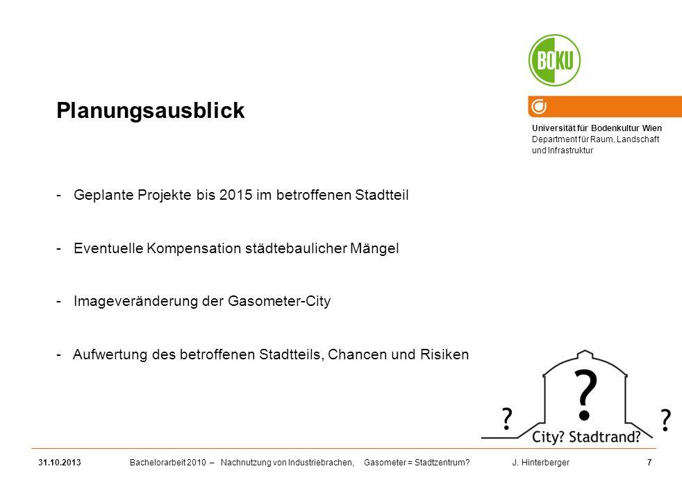 Planungsausblick Geplante Projekte bis 2015 im betroffenen Stadtteil