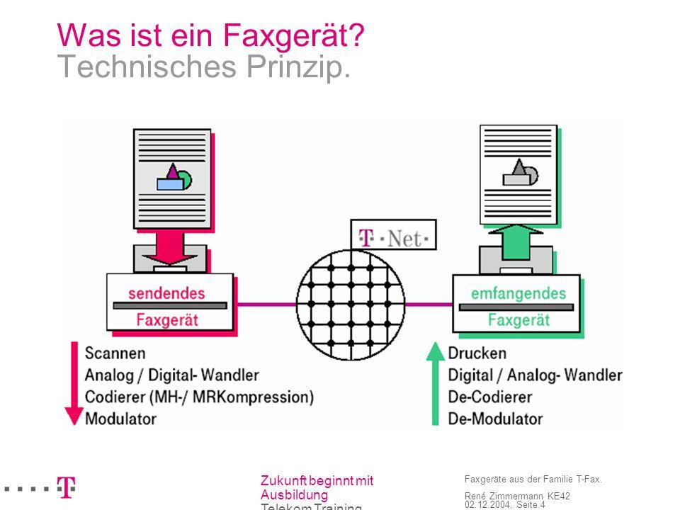 Was ist ein Faxgerät Technisches Prinzip.