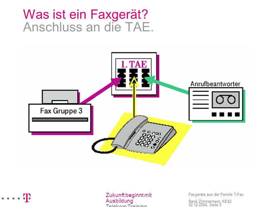 Was ist ein Faxgerät Anschluss an die TAE.