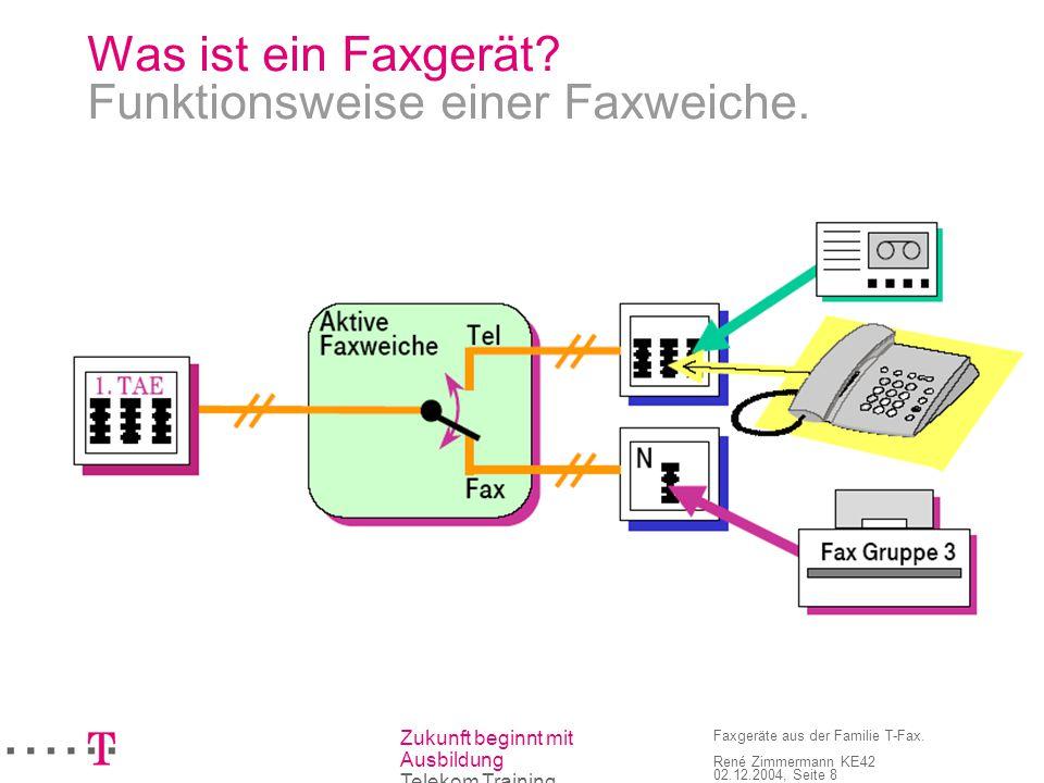 Was ist ein Faxgerät Funktionsweise einer Faxweiche.