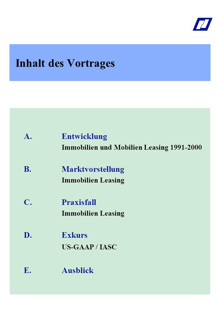 Inhalt des Vortrages B. Marktvorstellung US-GAAP / IASC E. Ausblick