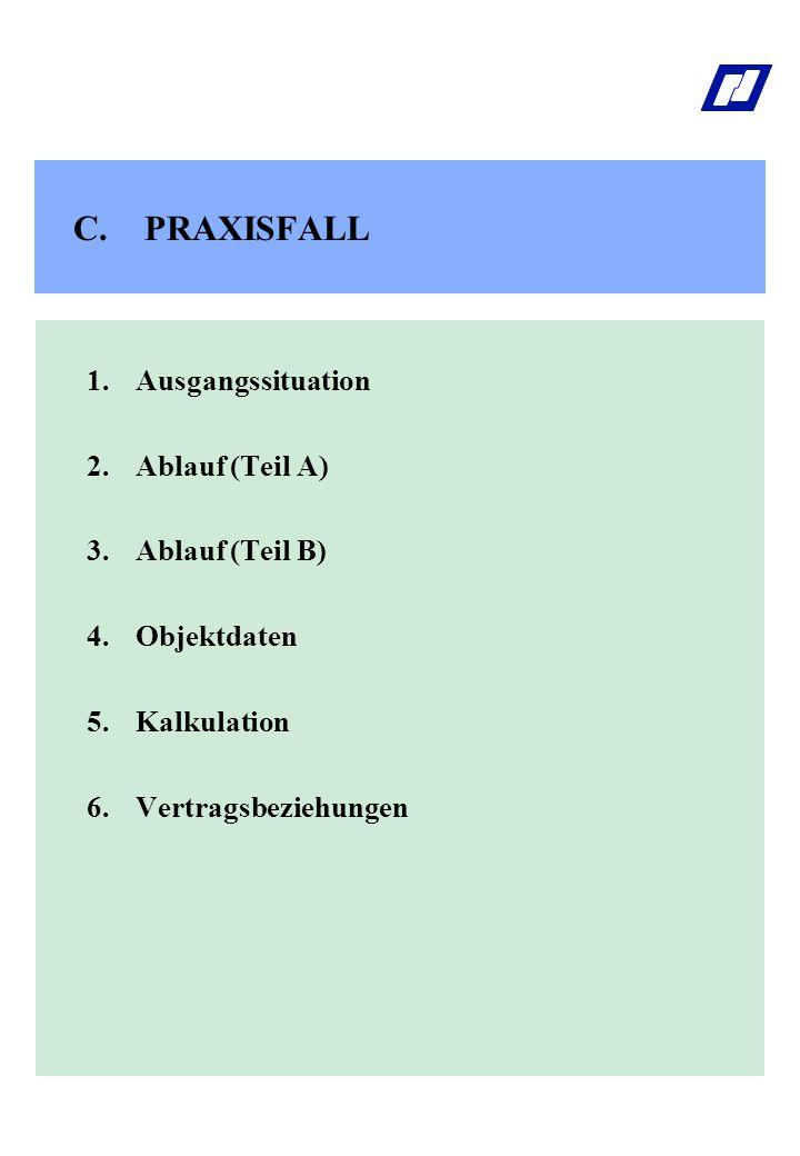 PRAXISFALL 1. Ausgangssituation 2. Ablauf (Teil A) 3. Ablauf (Teil B)