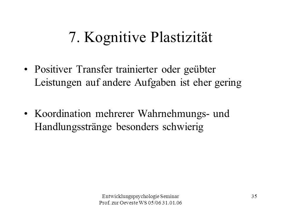 7. Kognitive Plastizität