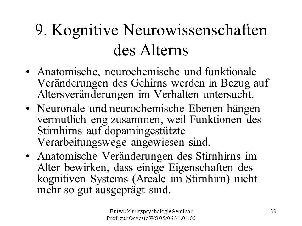 9. Kognitive Neurowissenschaften des Alterns