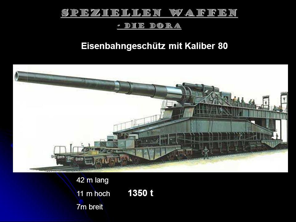 Eisenbahngeschütz mit Kaliber 80