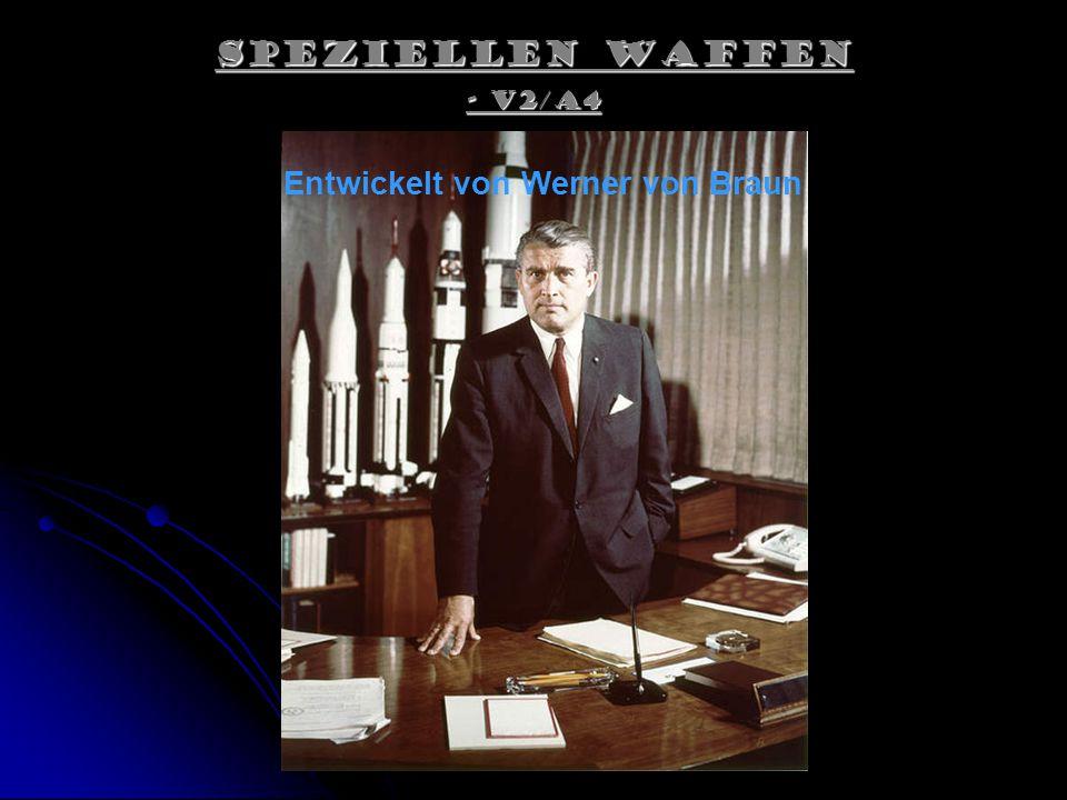 Entwickelt von Werner von Braun