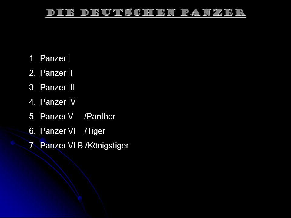 Die Deutschen Panzer Panzer I Panzer II Panzer III Panzer IV