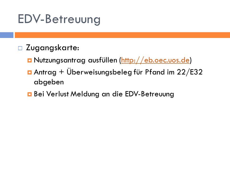 EDV-Betreuung Zugangskarte: