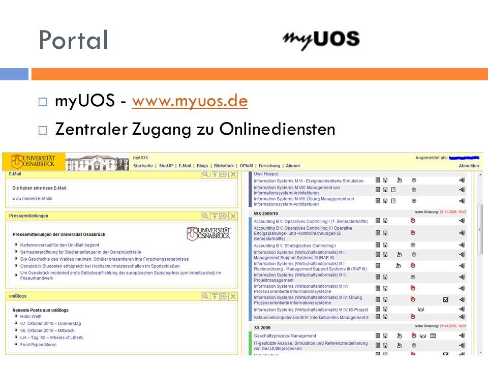 Portal myUOS - www.myuos.de Zentraler Zugang zu Onlinediensten