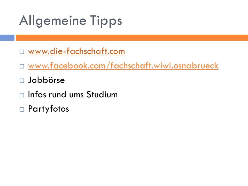 Allgemeine Tipps www.die-fachschaft.com