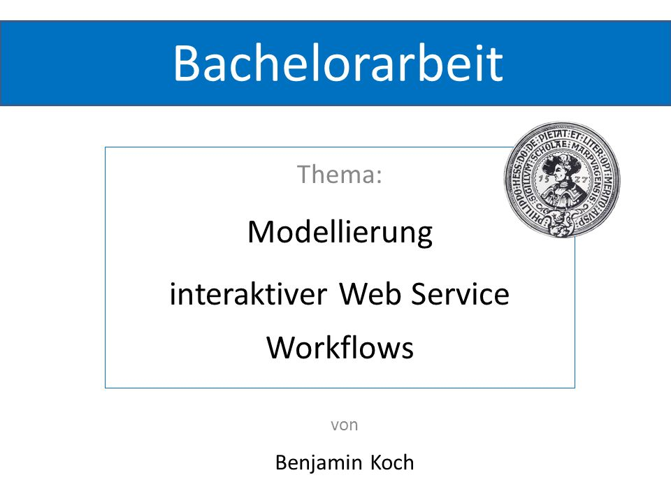 interaktiver Web Service Workflows