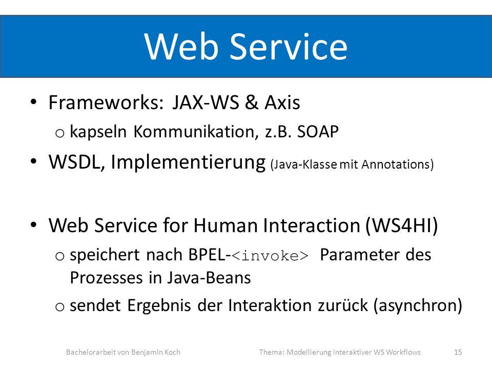Web Service Frameworks: JAX-WS & Axis