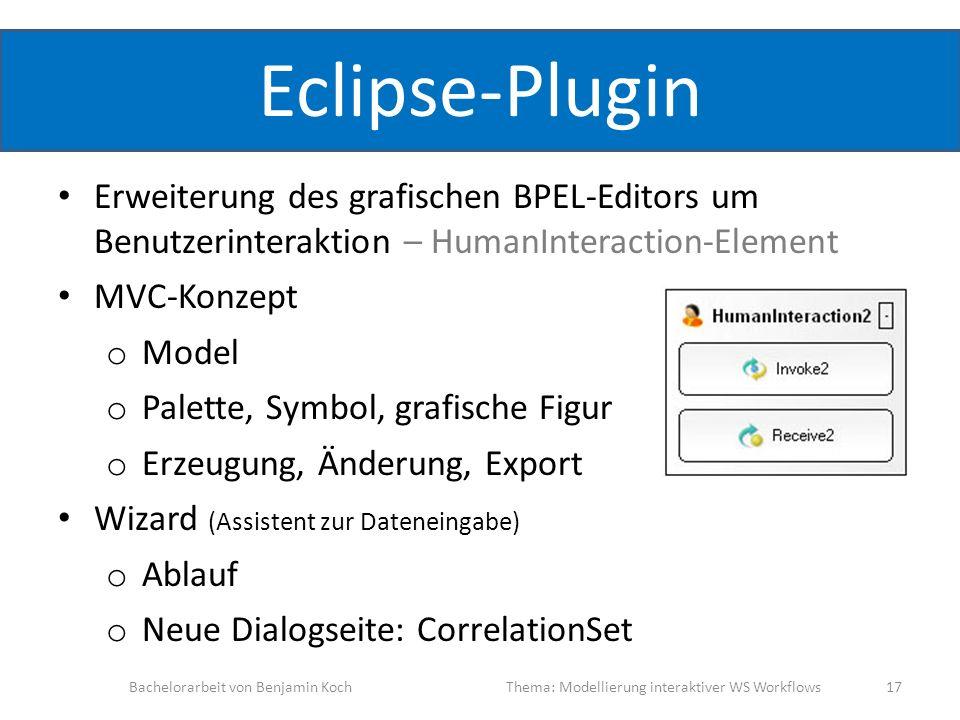 Eclipse-Plugin Erweiterung des grafischen BPEL-Editors um Benutzerinteraktion – HumanInteraction-Element.