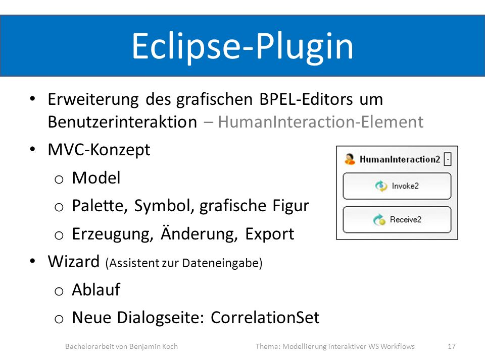 Eclipse-PluginErweiterung des grafischen BPEL-Editors um Benutzerinteraktion – HumanInteraction-Element.