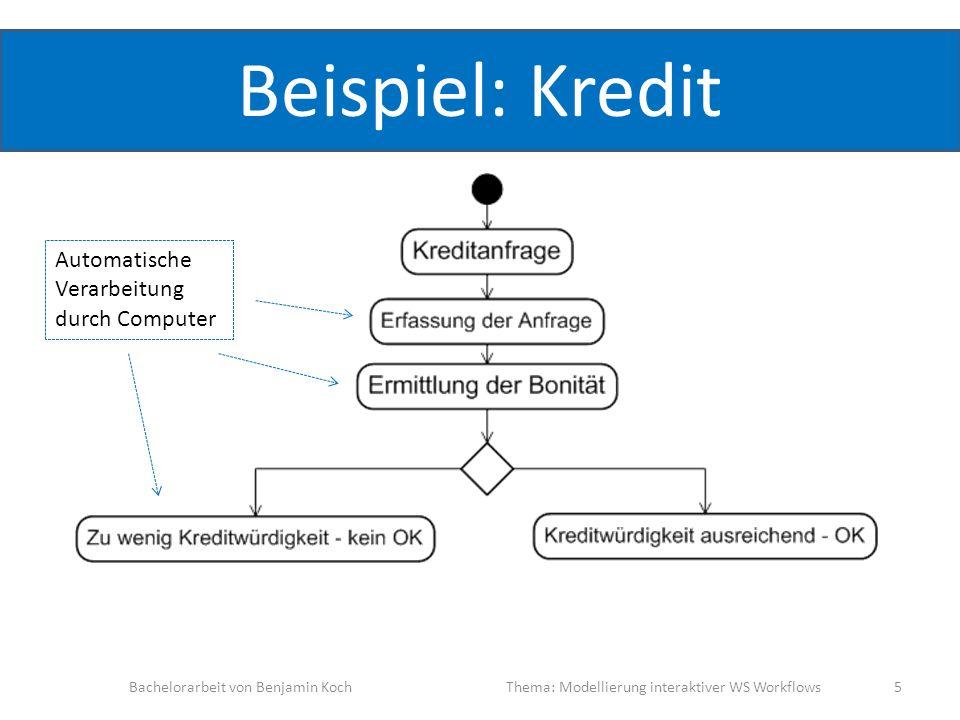 Beispiel: Kredit Automatische Verarbeitung durch Computer