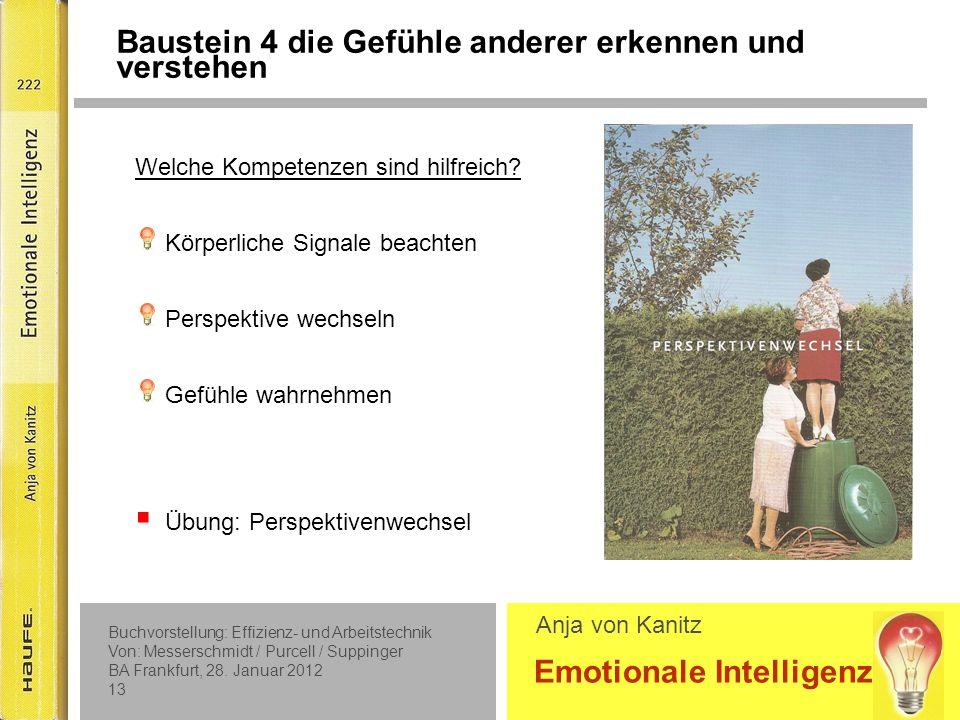 Baustein 5 Die Gefühle anderer beeinflussen und regulieren können