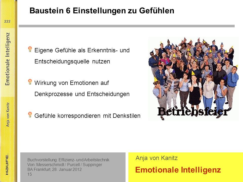 Emotionale Kompetenzen (weiter)entwickeln