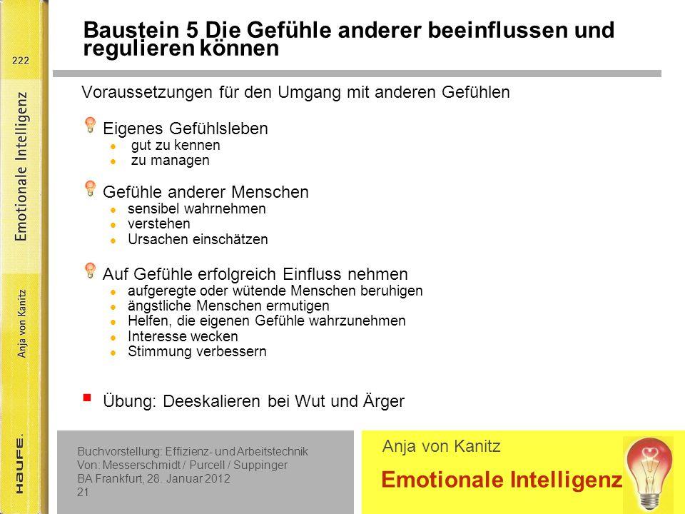 Baustein 6 Einstellungen zu Gefühlen