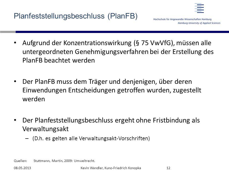 Planfeststellungsbeschluss (PlanFB)