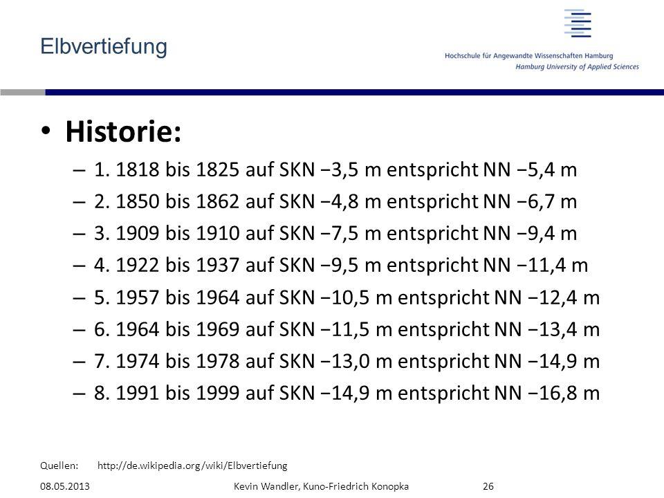 Historie: Elbvertiefung