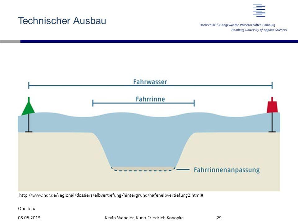 Technischer Ausbau http://www.ndr.de/regional/dossiers/elbvertiefung/hintergrund/hafenelbvertiefung2.html#