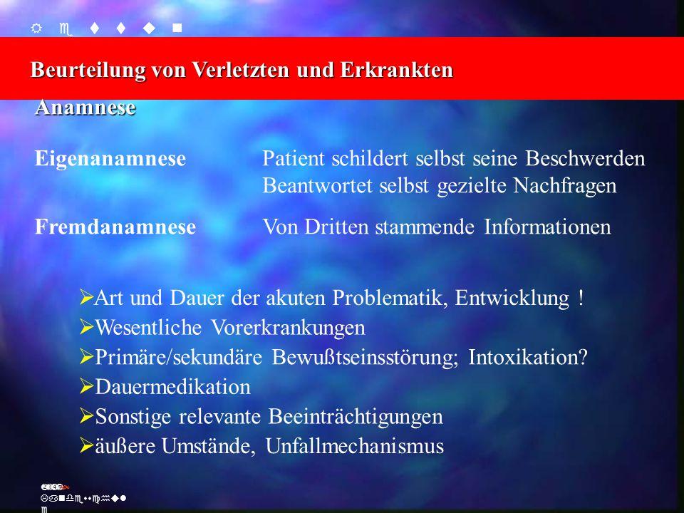 Beurteilung von Verletzten und Erkrankten