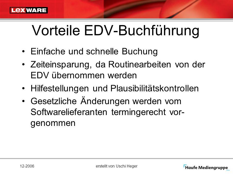 Vorteile EDV-Buchführung