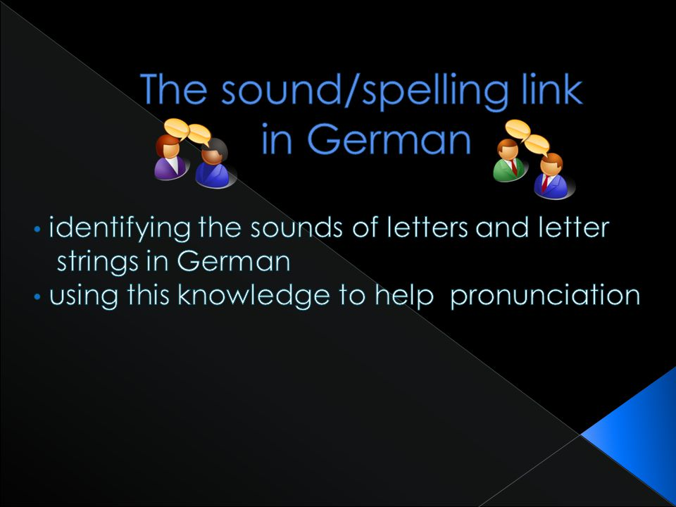 The sound/spelling link in German
