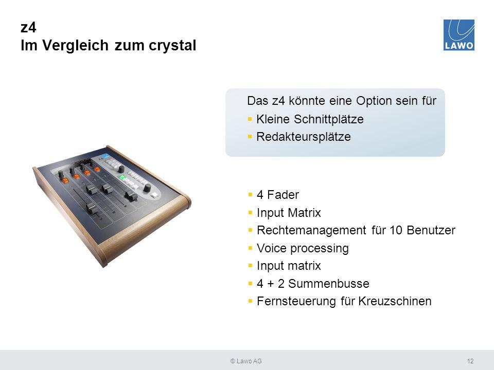 z4 Im Vergleich zum crystal