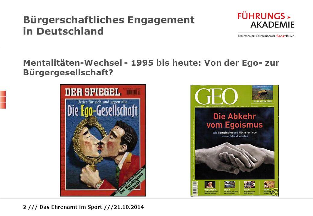 Bürgerschaftliches Engagement in Deutschland