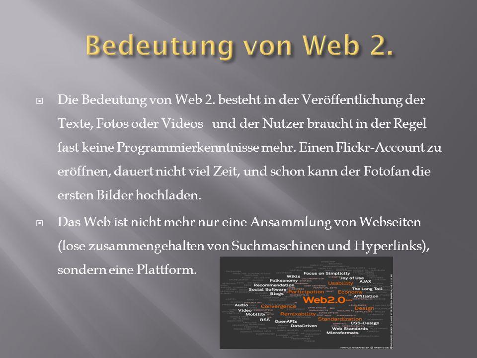 Bedeutung von Web 2.