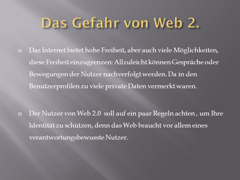 Das Gefahr von Web 2.