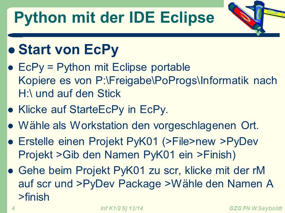 Python mit der IDE Eclipse