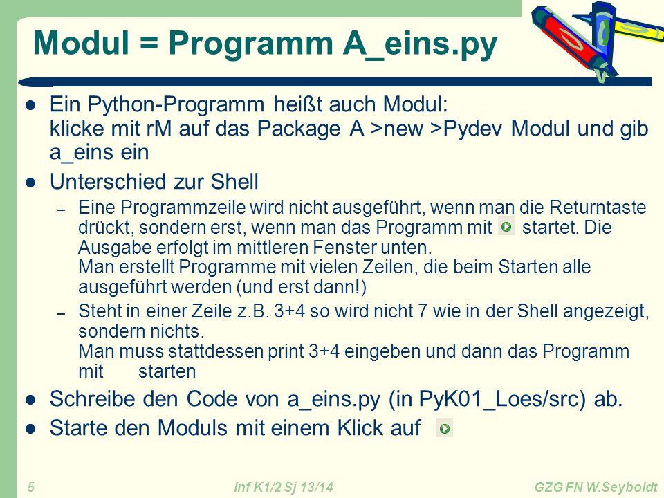 Modul = Programm A_eins.py