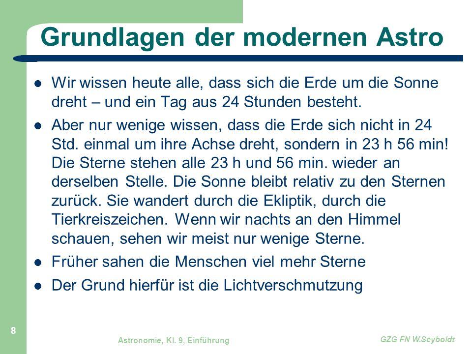 Grundlagen der modernen Astro