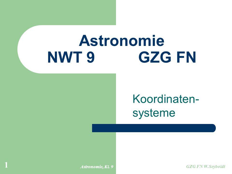 Astronomie NWT 9 GZG FN Koordinaten- systeme Astronomie, Kl. 9